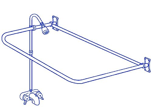 "Clawfoot Tub Add-On-Shower RX2300A Includes 54"" D-Shower ..."