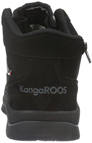 Kangaroos Baskets Noir Mixte Basses Foncé Enfant Noir 522 gris Murino FOWTF6p4