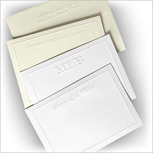 Embossed Border Correspondence Cards - Set of ()