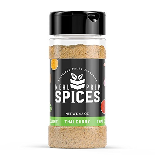 Curry Seasoning (Meal Prep Spices Thai Curry Seasoning - Paleo, Kosher, and Gluten Free - One (1) 4.5oz Bottle)