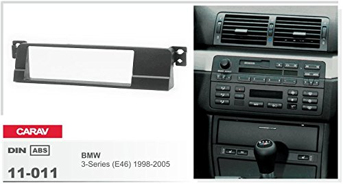 CARAV 11-011-3-67 1-DIN Marco de pl/ástico para Radio para BMW 3-Series E46 1998-2005