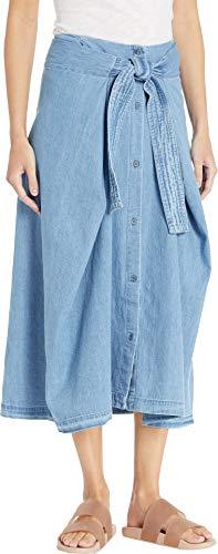 (Levi's Women's LMC Field Skirt, Comfort Denim, Blue, Large)