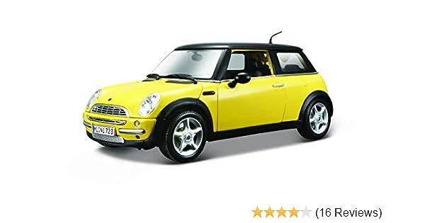 New Mini Cooper Sunroof Yellow 1:18 Model 31656 MAISTO