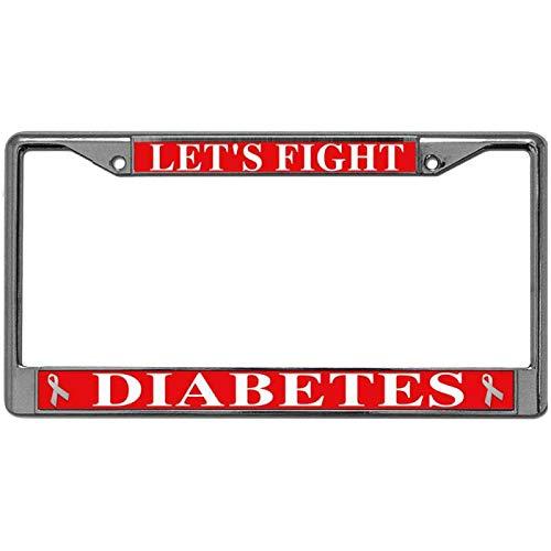 diabetes license plate frame - 2