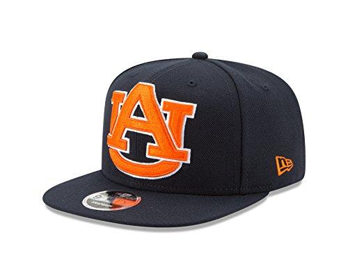 NCAA Auburn Tigers Logo Grand Snap 9Fifty Original Fit Cap, One Size, Navy