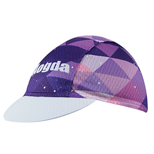 (BIYINGEE Cycling Cap Polyester Fits Under Helmet Purple Cubes)