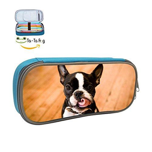- Boston Terrier 3D Print Pencil Case Pen Bag Pencil-Holders Pouch Stationary Case Makeup Cosmetic Bag For Children