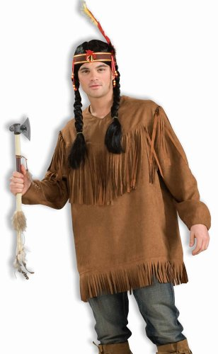 Indian Costumes Man (Forum Novelties Men's Native American Costume Shirt, Brown, One Size)