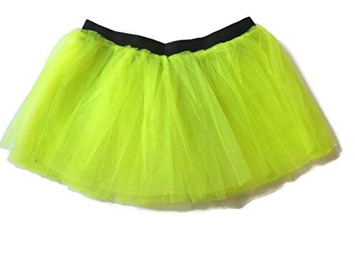 Rush Dance Running Skirt Teen or Adult Princess Costume Runners Rave Race Tutu (Neon Yellow) (Dirty Dancing Halloween Costumes)