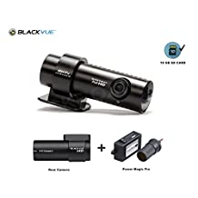 BlackVue New 2 Channel DR650GW-2CH 16GB with Power Magic Pro, Car Black Box/Car DVR Recorder, Built-in Wi-Fi, Full HD(1080p@30fps), 16GB SD Card Included, up to 64GB support