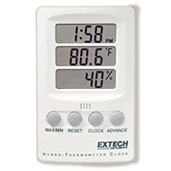 Extech Instruments 445702-DS Indicator Relative Humidity/Temperature with Clock