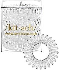 Kitsch Spiral Hair Ties, Coil Hair Ties, Phone Cord Hair Ties, Hair Coils - 4pcs, Transparent