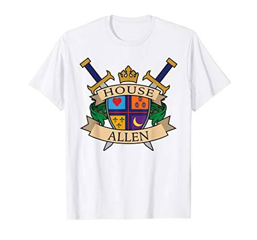 House Allen Family Crest Coat of Arms T Shirt