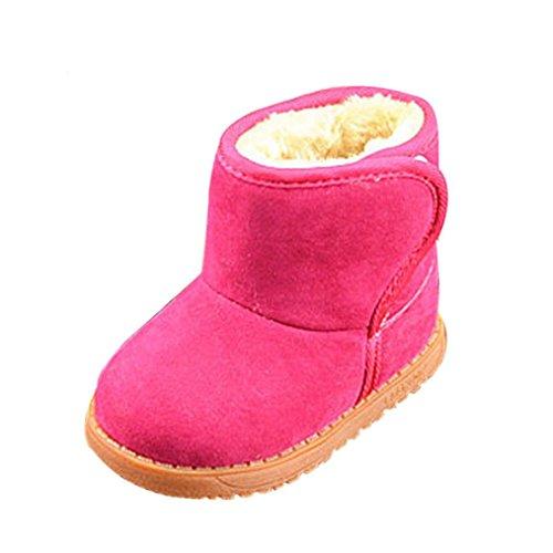 Axinke Toddlers Girls Boys Winter Warm Slip-on Anti-slip Design Sole Kids Snow Boots