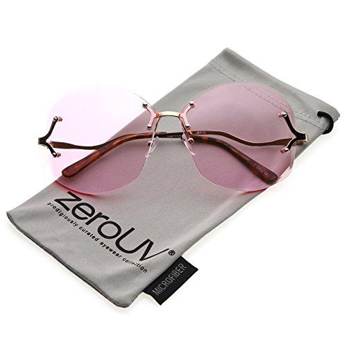 Metal Rimless Sunglasses - 3