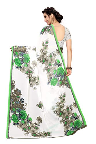 ANNI DESIGNER Georgette Saree with Blouse Piece Discounts Junction