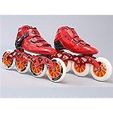 LNYF-OV Patines En Línea Fibra De Carbono Rueda De Fila Recta Hombres Y Mujeres Adultos Patinaje De Velocidad Zapatos Niños Profesional Rodillo De Patinaje De Velocidad De Una Fila