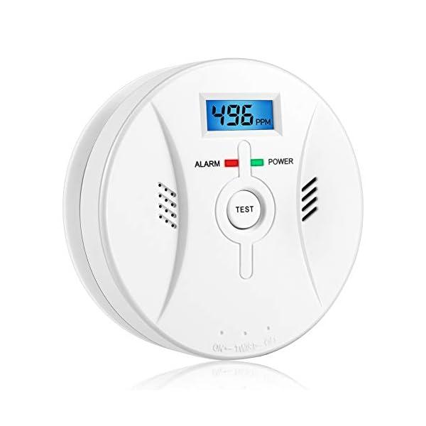 41YNw6j8G6L Kohlenmonoxid Warnmelder mit LCD Display CO Melder Lauter 85 Db Alarm Kohlenmonoxid Melder mit Kohlenmonoxidsensor…