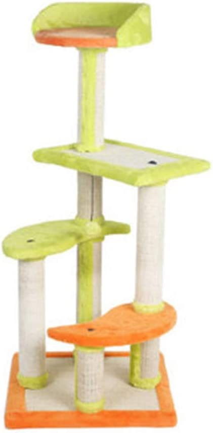 YongFeng 猫の木とタワー、猫のスクラッチボード、ポストボードを引っ掻くと玩具をぶら下げ4層の猫クライミングツリーホームペットアクティビティセンター猫猫の木ボード、複数のスタイルが利用可能 猫のよじ登り塔 (Size : 45x45x107cm)