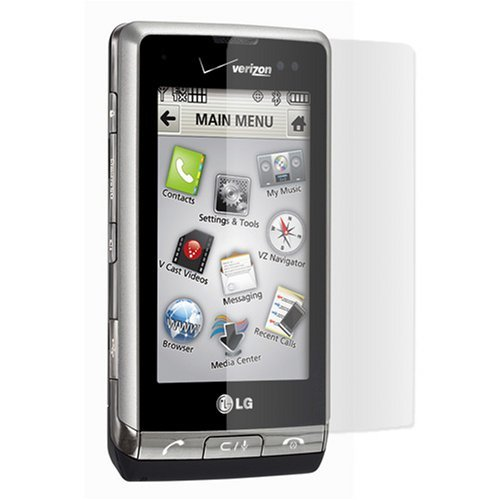 (Clear Durable Reusable LCD Screen Protector for Verizon LG Dare VX9700 VX-9700 Cell Phone)