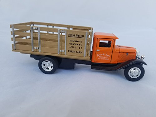 1934 Ford BB 157 Produce Truck 1/43 T690- 1/694 V690 Orange Cab with Tan Bed