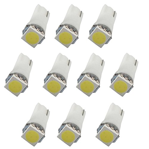Baoblaze 10x White T5 5050 LED Car Dome Meter Map Door Step Light Lamp Bulb Conversion - Conversion Kit Time