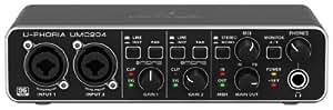 Behringer U-PHORIA UMC204 - Interfaz de audio, color negro
