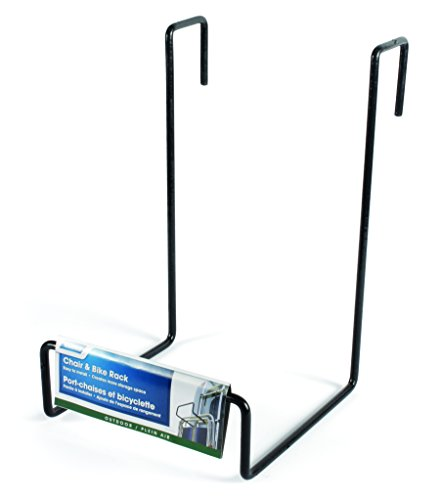Camco-Heavy-Duty-Chair-Rack-Hook-on-RV-Ladder-to-Support-Folding-Chairs-Picnic-Chairs-and-Beach-Chairs-During-Travel-Black-51490