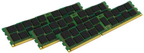 Kingston KVR16R11S8K3/12I - Memoria RAM de 12 GB (1600 MHz DDR3 ECC Reg CL11 DIMM Kit (3x4 GB) 240-pin, Certificado Intel)