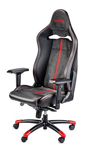 Sparco S00986ZNRRS Silla Oficina/Gaming Comp C Carbon Negro/Red