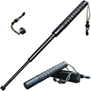 DSRH Outdoor Collapsible Implement,Expandable Climbing Stick,26 Inch Multifunctional 3-Section Telescopic Pole