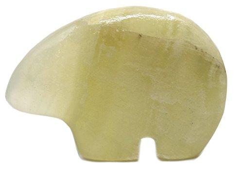 Gentle Green Onyx Aragonite Polar Bear Figure, 2.5