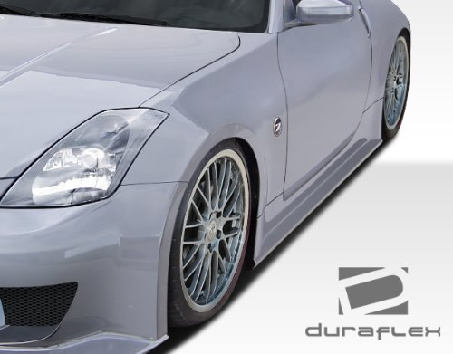 Duraflex ED-SCM-565 J-Spec 2 Side Skirts Rocker Panels - 2 Piece Body Kit - Compatible For Nissan 350Z 2003-2008