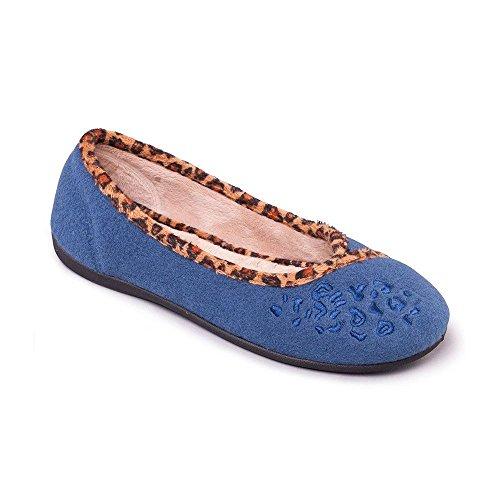 bleu Padders Femme Chaussons jean Pour q4XR4t