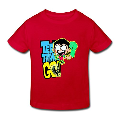 AOPO Teen Titans Go Robin Tees For Toddlers Unisex (2-6 Years) 3 Toddler Red - Teen Titans Raven Kids Costumes