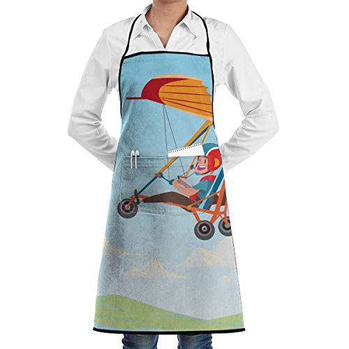 Commercial Trike - YEPGL Hang Glider Trike Bib Aprons Commercial Restaurant and Home Kitchen Apron for Men Women Chef Servers Waiter