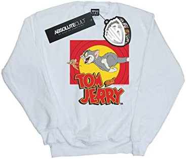 Absolute Cult Tom and Jerry Herren Chase Scene Sweatshirt Weiß X-Large
