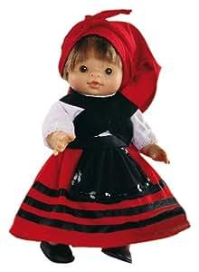 Paola Reina - Paolita, muñeca bebé con traje regional gallego, 22 cm (00594)