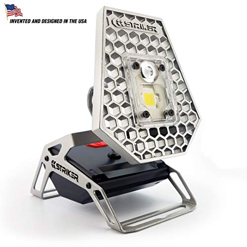 Striker Concepts 00173 Striker Modern Mobile Task Light, 1200 Lumens, for Home and Camping, Silver