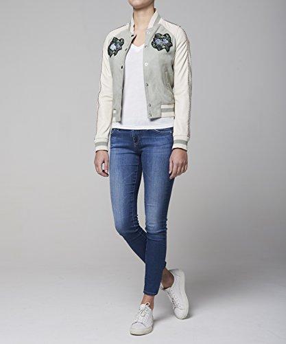 Goosecraft, Chaqueta para Mujer Mehrfarbig (mint & white MINTWHITE)
