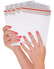 25 Pack Rigid envelopes 6 x 6 Paperboard mailers 6x6 Stay flat envelopes. White rigid photo document mailer. No bend, for mailing CD disks, photos. Peel and Seal. Cardboard, corrugated, fiberboard.