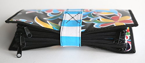 Cute Black Oilcloth Envelope System Wallet for Cash Budgeting and Extreme Couponing