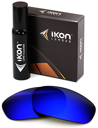Polarized Ikon Iridium Replacement Lenses For Oakley Split Jacket Sunglasses - Deep Blue - Oakley Blue Mirror Lens
