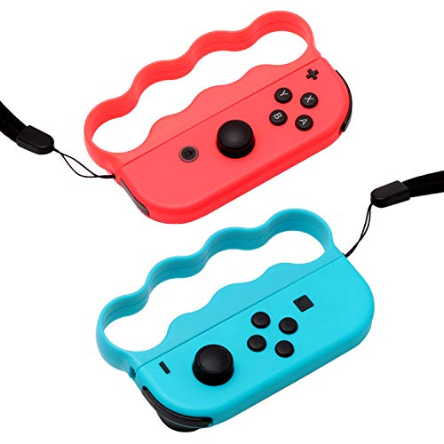 Grips for Fitness Boxing Switch, Controller Accessories for Switch Boxing Game, 2 Packs (Blue and Red)