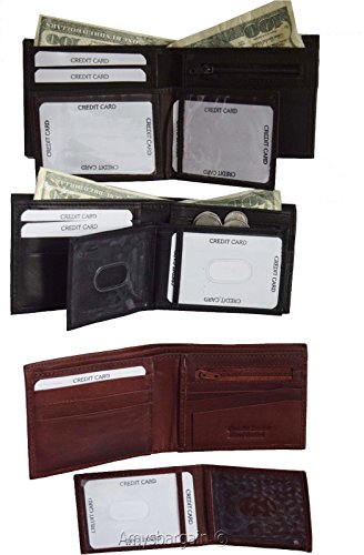 Billfolds ID Slot 1 Bifold 2 Wallet 3 Lot Leather 3 3 Man's in of Wallet 9 Card xOqnwRHZ