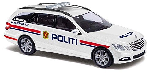 2009 Mercedes-Benz E Class T Modell Station Wagon - Assembled -- Norwegian Police (whie, red, blue, German Lettering) ()