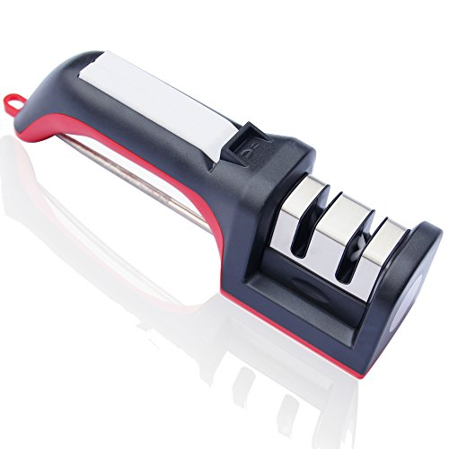 Kitchen Knife Sharpener From Grhlmy,2 Stage Coarse & Extra-Fine Sharpening System For Serrated Knives,Scissors,Fishhook (Fine Knife Sharpener compare prices)