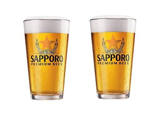 Beer Sapporo Draft - Sapporo Pint Glasses - Set of 2