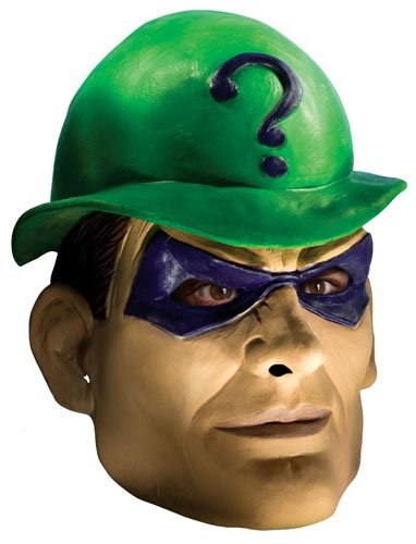 [DC Comics Rogues Gallery Adult Riddler Mask, Multi, One Size] (Riddler Costume Amazon)