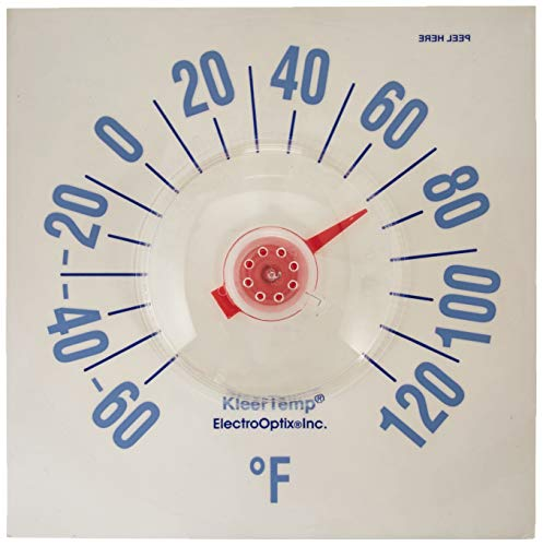 Thermometer Window Original (Electro Optix Inc 848NW11.400B KT-7 Thermometer Kleertemp 7-1/2